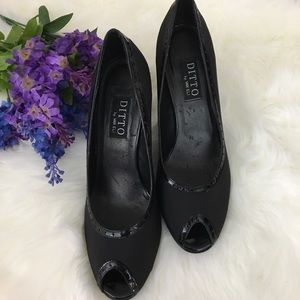 Ditto by Van Eli Peep-toe Black Heels